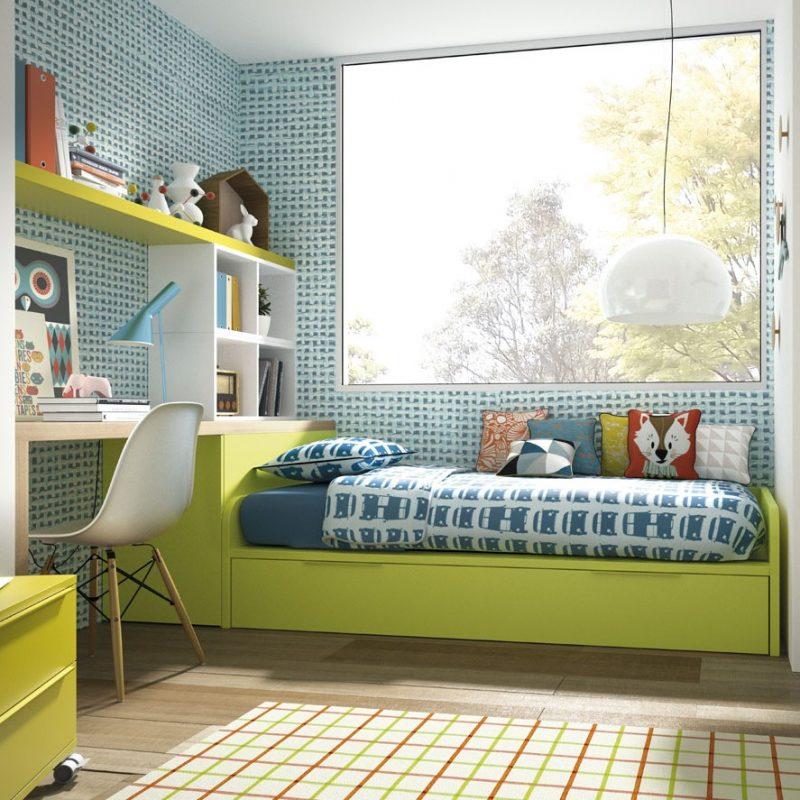 juvenil-marca-jjp-dormitorio-juvenil-amedida-cama-nido-verde