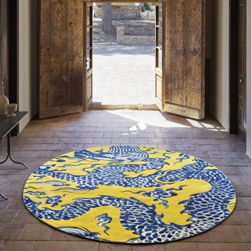 Alfombra blue china mbit for Alfombras chinas