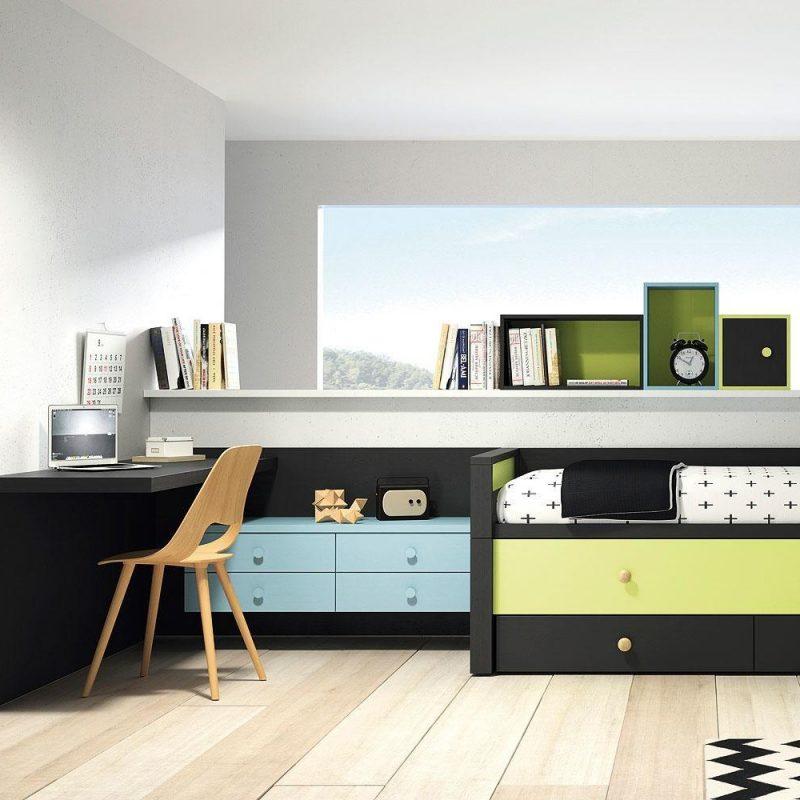 Habitacion juvenil barcelona detalle de armario a medida - Muebles dormitorio barcelona ...