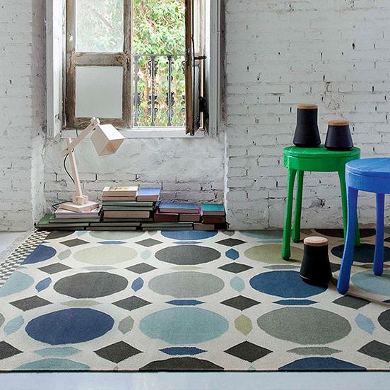kilim-canadá-alfombra-azul-Gandia-Blasco