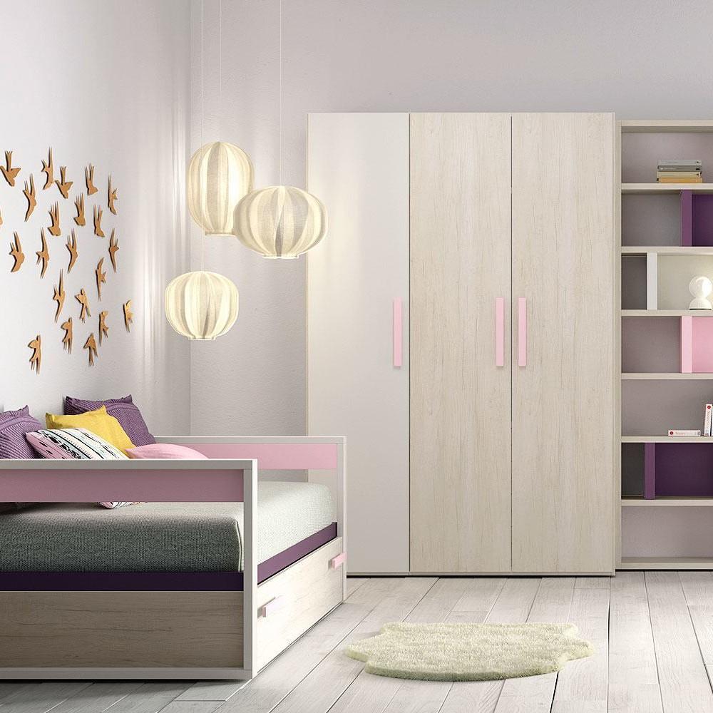 Habitacion juvenil barcelona detalle de armario a medida for Muebles juveniles baratos barcelona