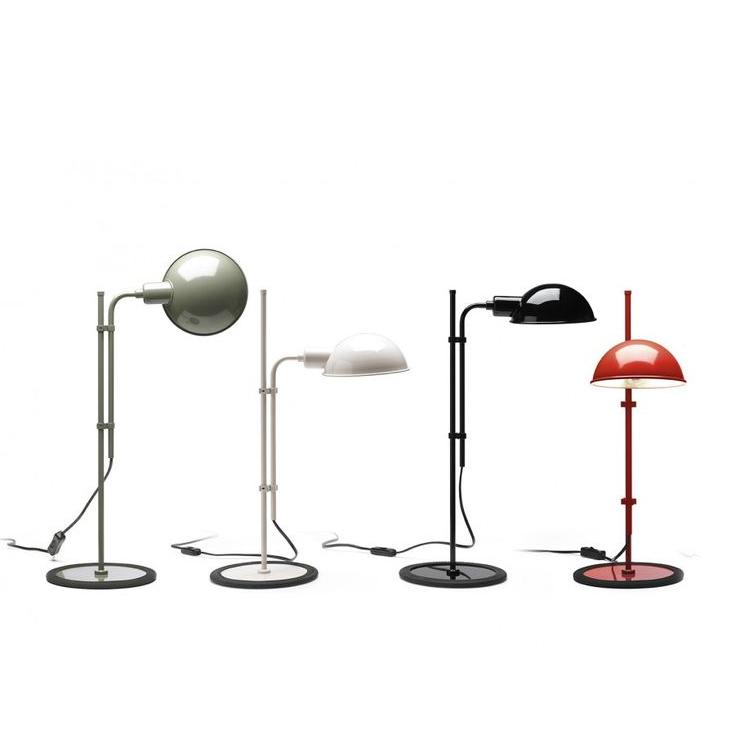cuatro lámparas funiculí de marset en diferentes colores.