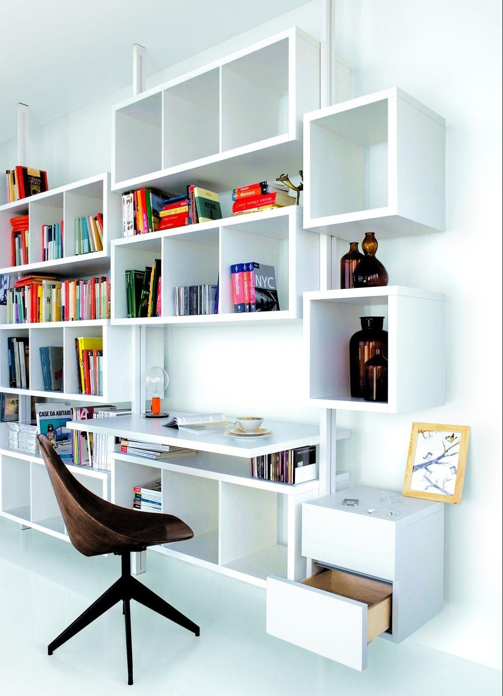 libreria-extendo-lacado-diseño-abierto-perfiles-metalicos-mesa-escritorio