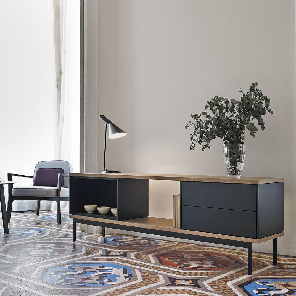 Mueble tv slats mbit for Muebles nordicos barcelona
