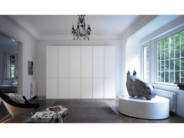Armario puertas con marco aluminio lacado mbit - Disenador de armarios ...