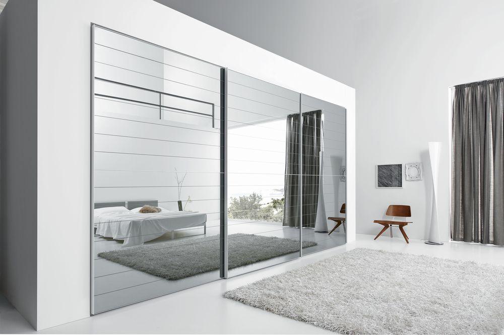 Armario puertas cristal y laminado mbit - Armarios con puertas de cristal ...