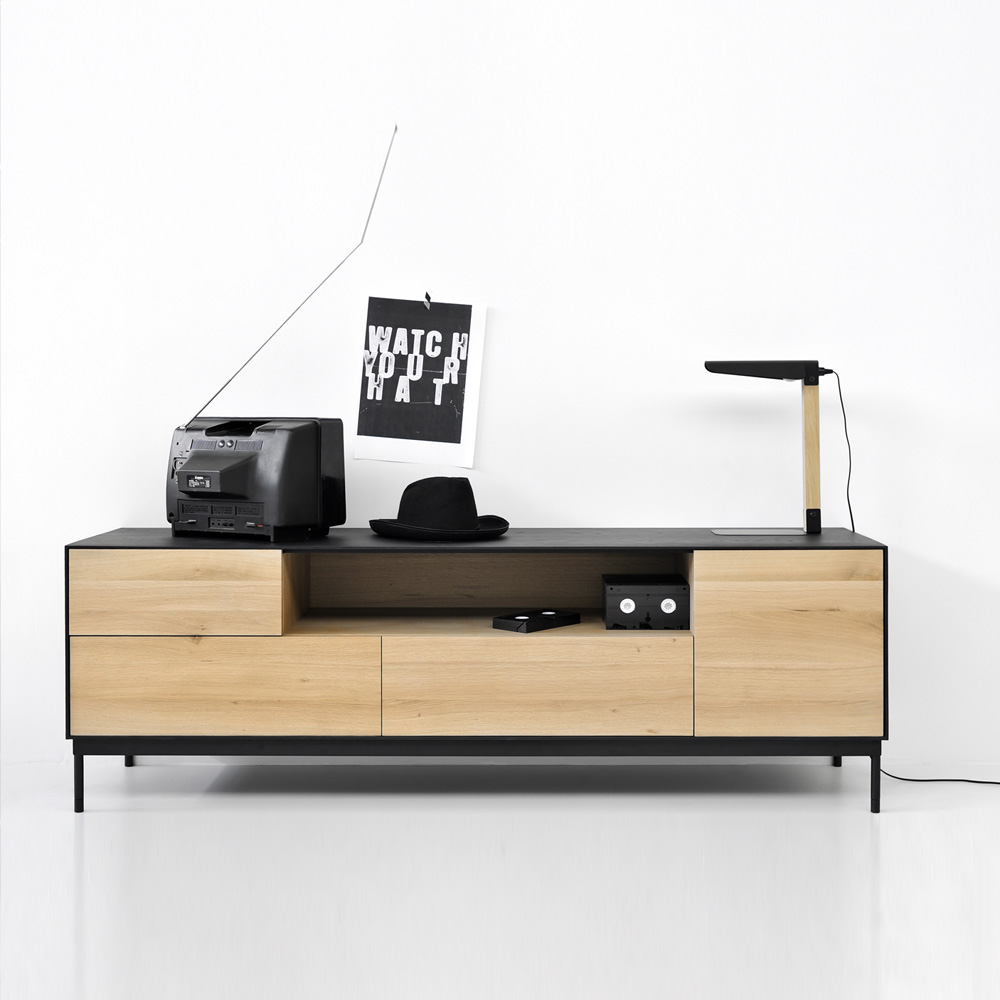 Mueble Tv negro Blackbird | Àmbit