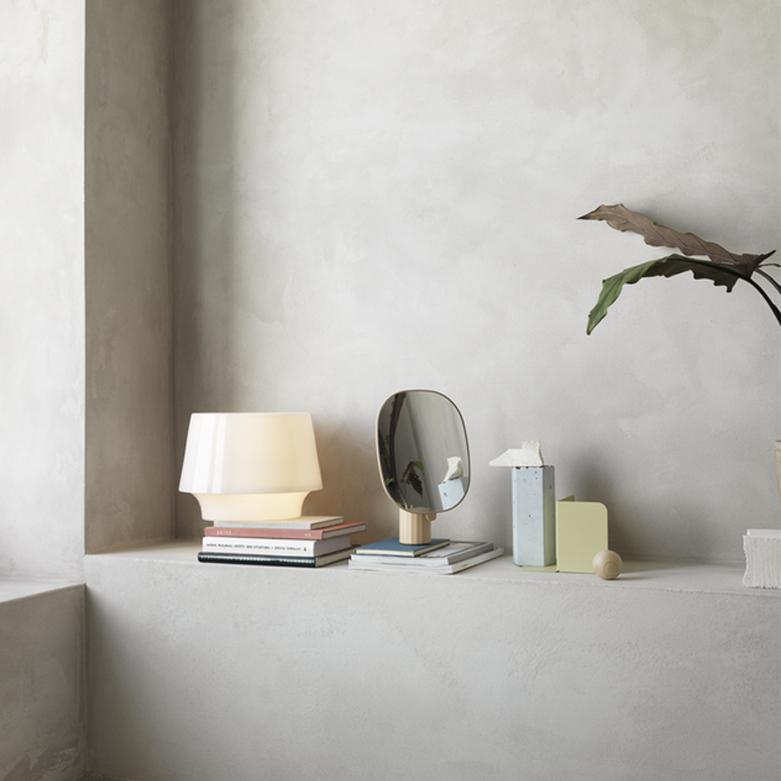Lámpara de sobremesa cosy in white de cristal