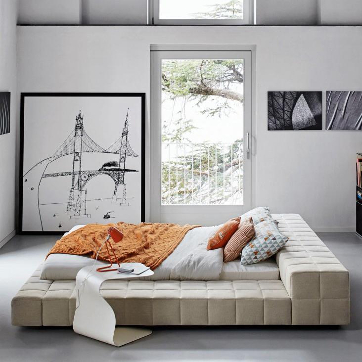 Squaring-Bonaldo-cama-matrimonial-acolchada-tapizada