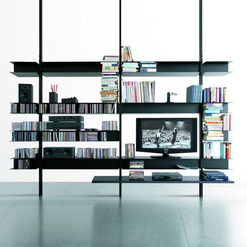 libreria-extendo-lacado-diseño-abierto-perfiles-metalicos-negro-2