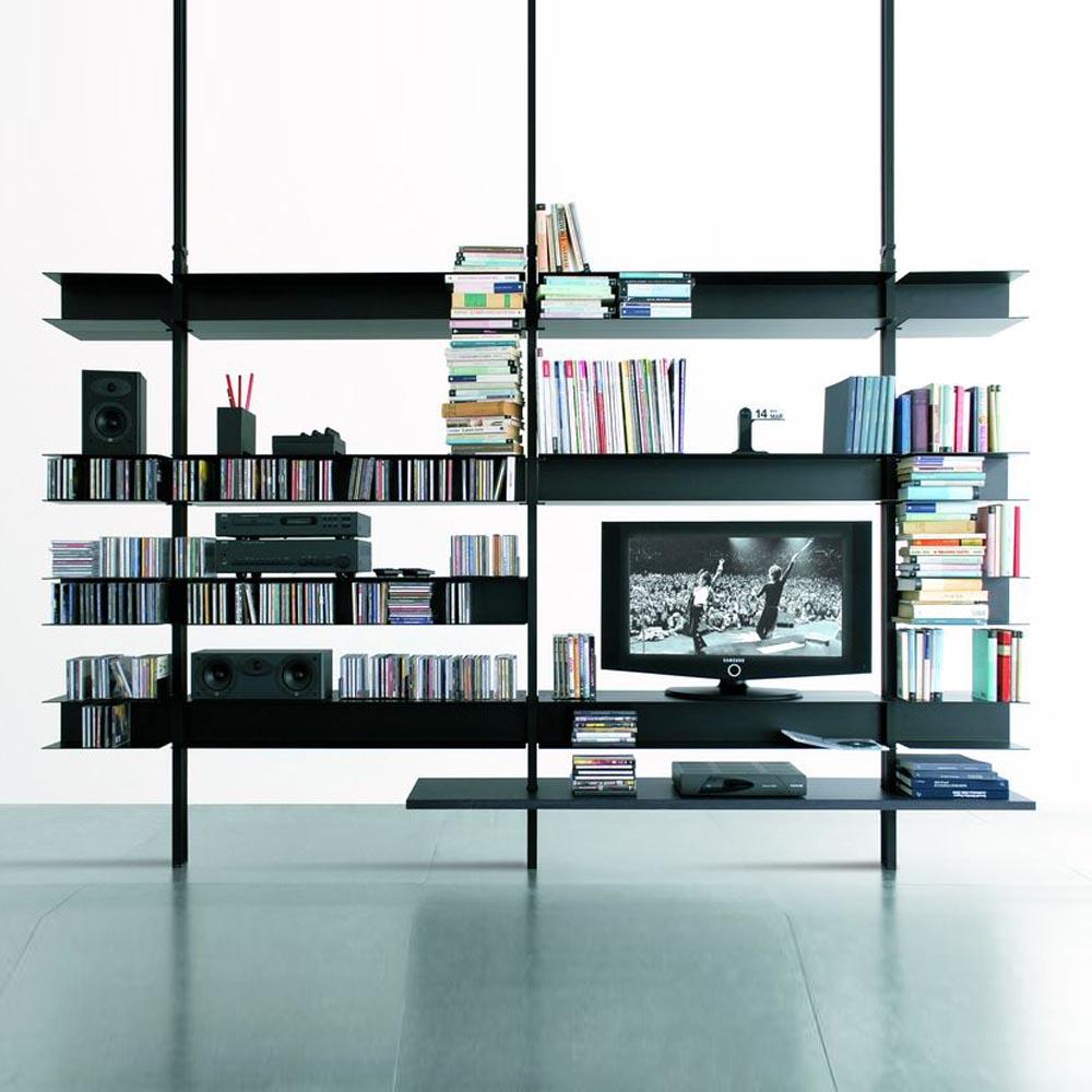 Mueble tv system librer a 2 mbit for Mueble libreria