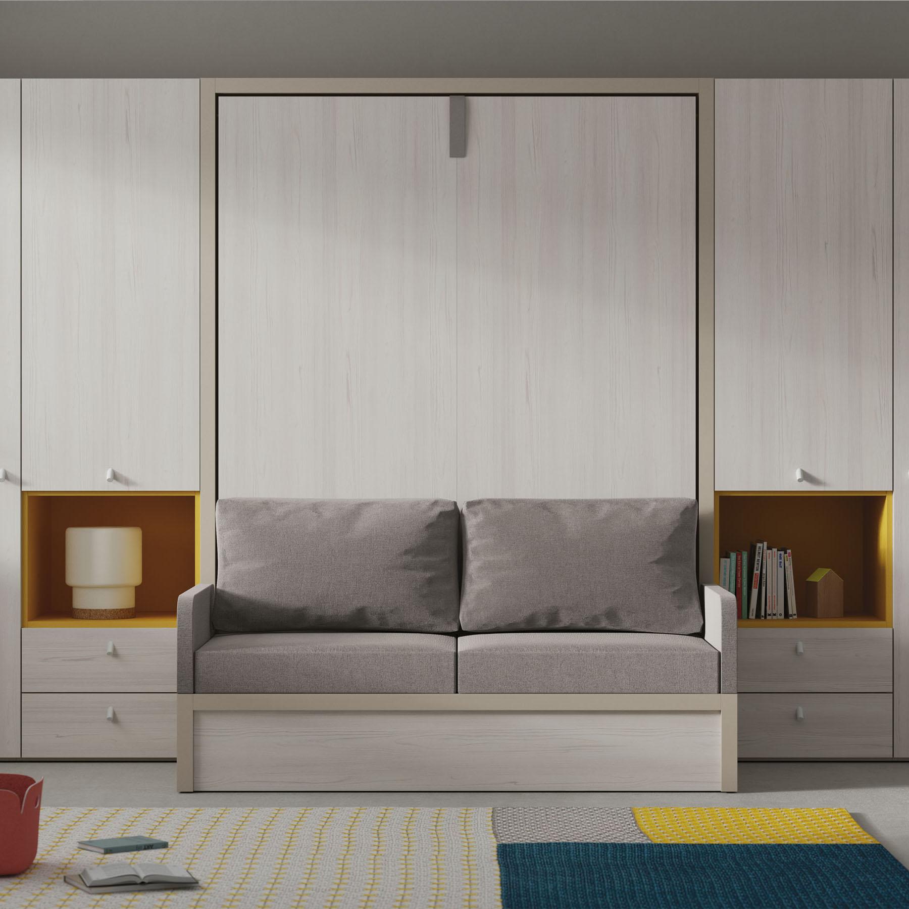 Habitaci n juvenil cama abatible 6 mbit - Habitacion juvenil cama abatible ...