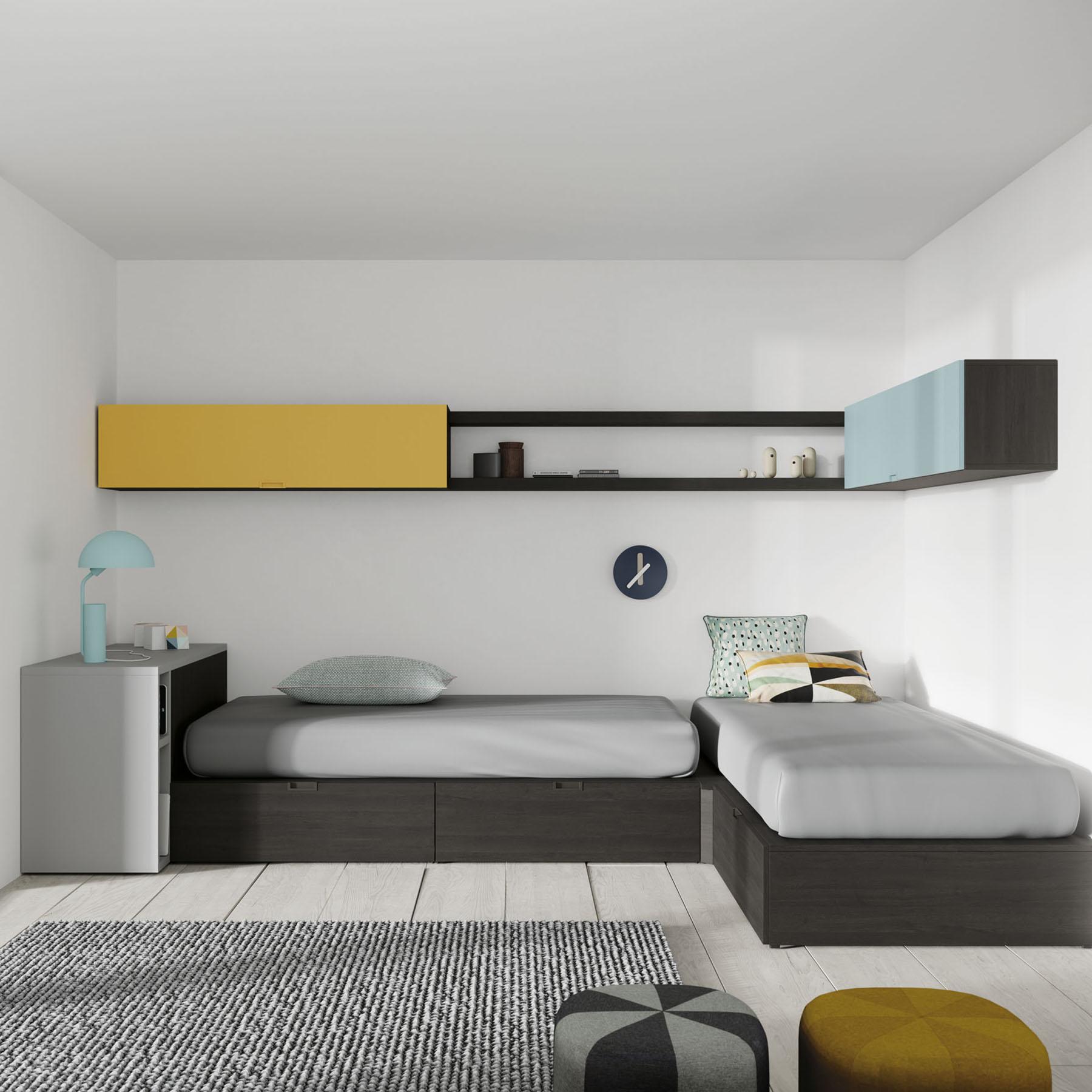habitaci n juvenil 2 camas mbit