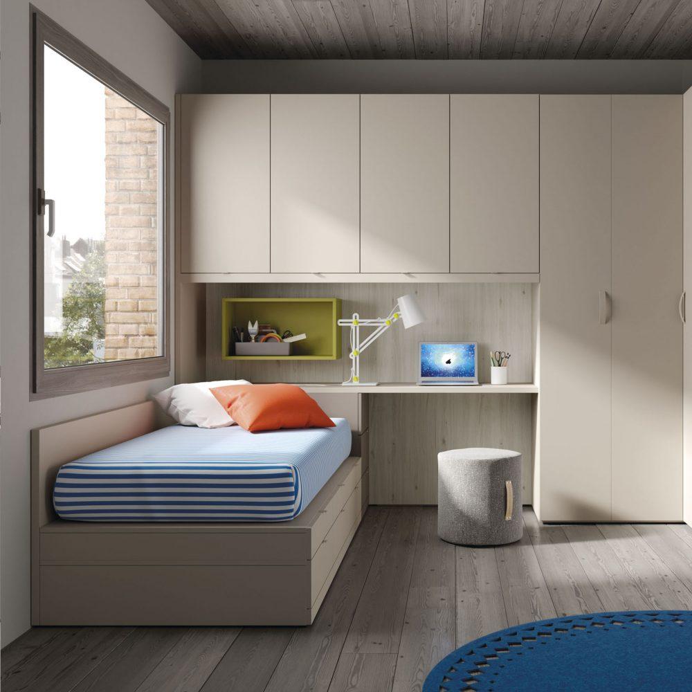 Habitaci n juvenil con escritorio 1 mbit - Escritorio habitacion ...