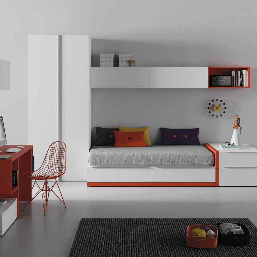 Habitaci n juvenil con escritorio 2 mbit - Escritorio habitacion ...