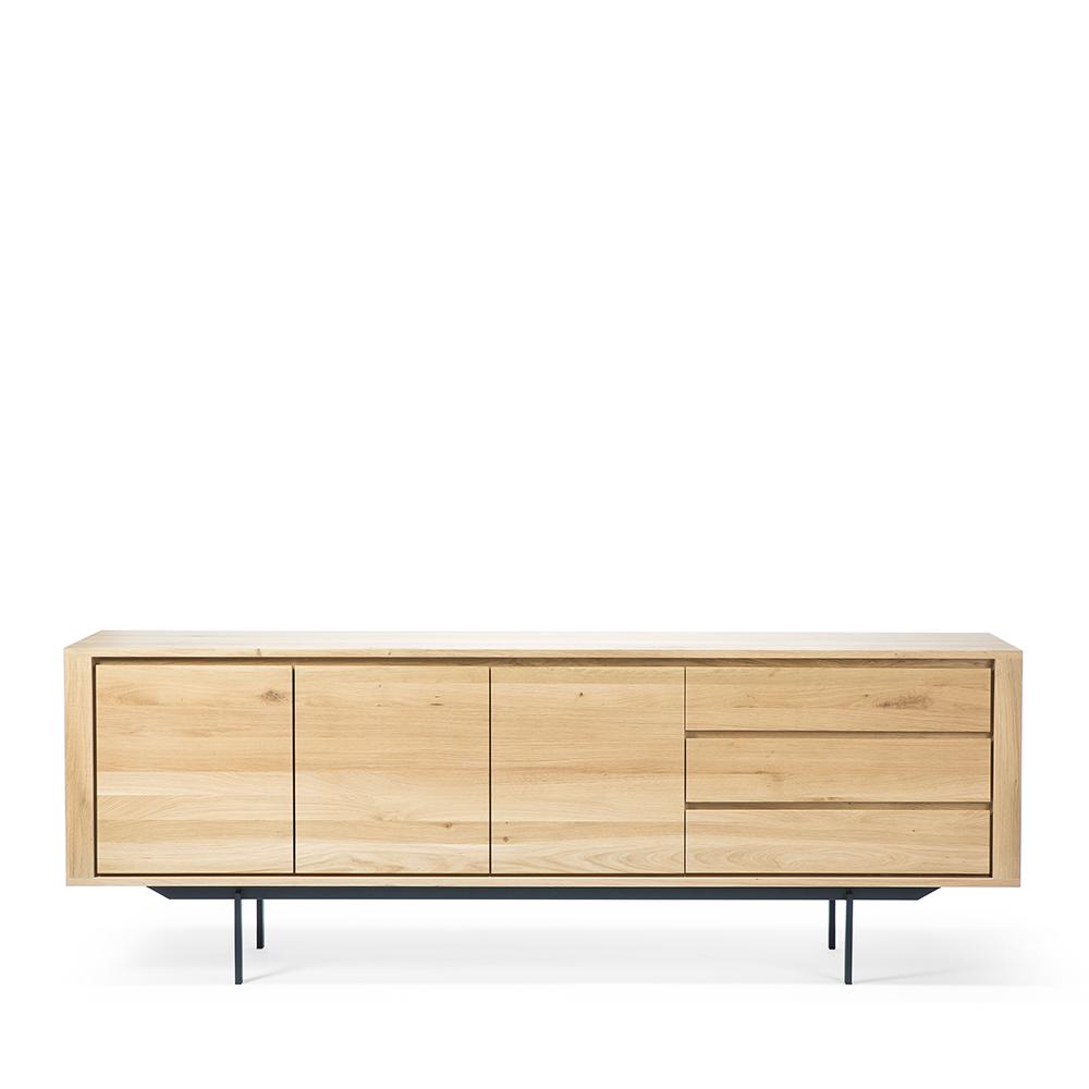 TGE-051386-Oak-Shadow-sideboard-3-opening-doors-3-drawers-black-metal-legs-224x45x80_f