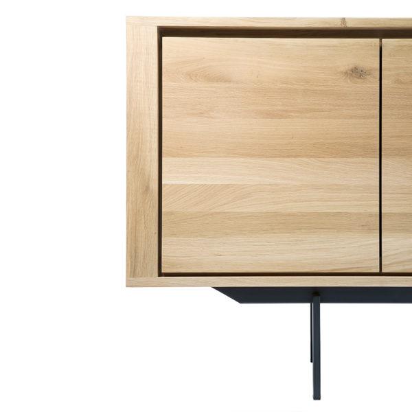 TGE-051388-Oak-Shadow-sideboard-1-door-3-drawers-metal-legs_det2-600×600
