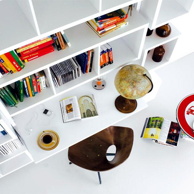 Escritorio-Librería-estanteria