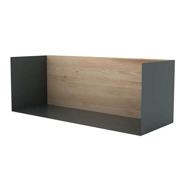 Shelves-Estantes-Roble-negro-metalico