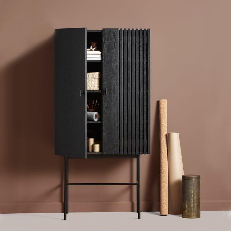Woud-storage-armario-aparador-negro-madera