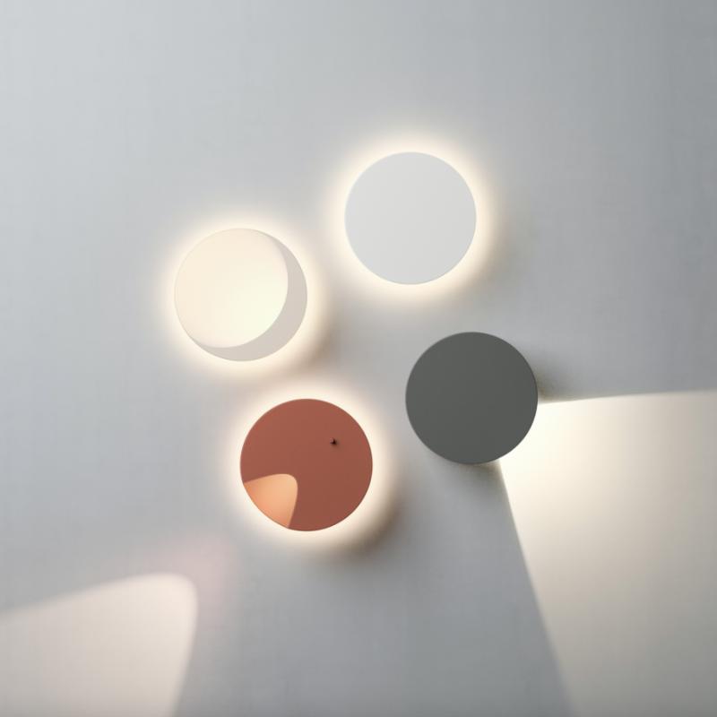lámparas de pared en forma de círculo