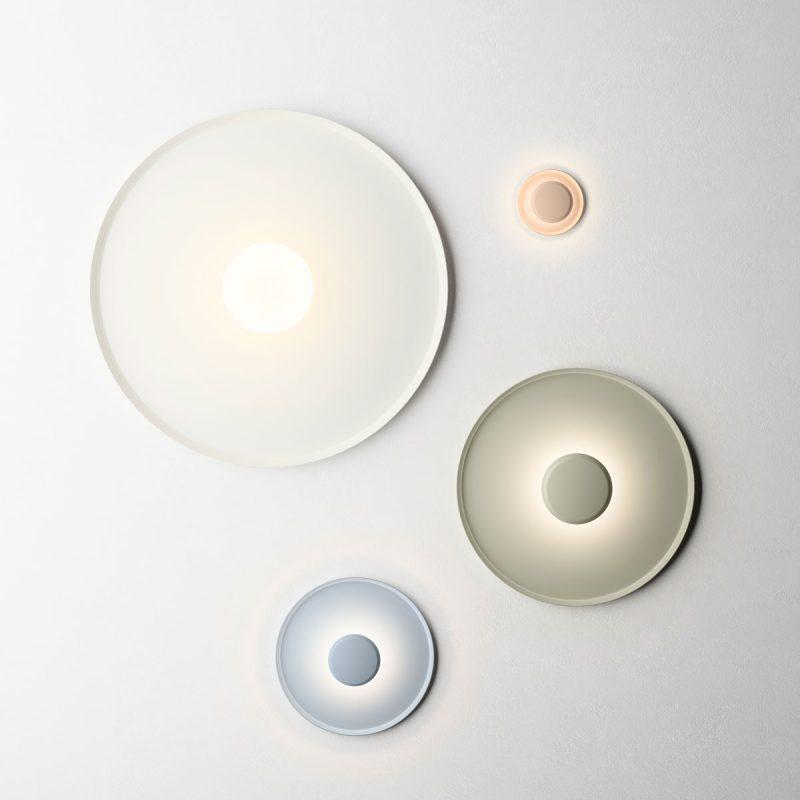lámpara de techo en formas de círculos